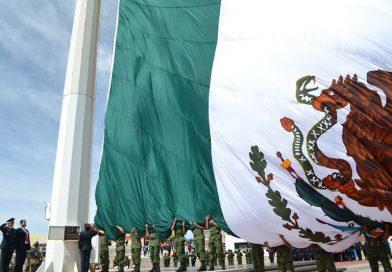 Secretario General preside Día de la Bandera; símbolo vigente de identidad, orgullo y Unidad de México